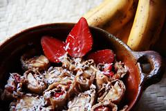 Pancake and fruit rolls