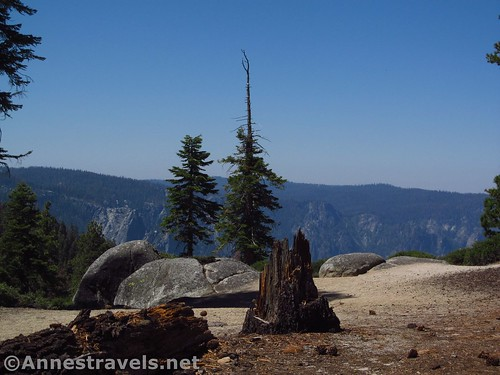 Part of the viewpoint along the North Dome Trail in Yosemite National Park, California