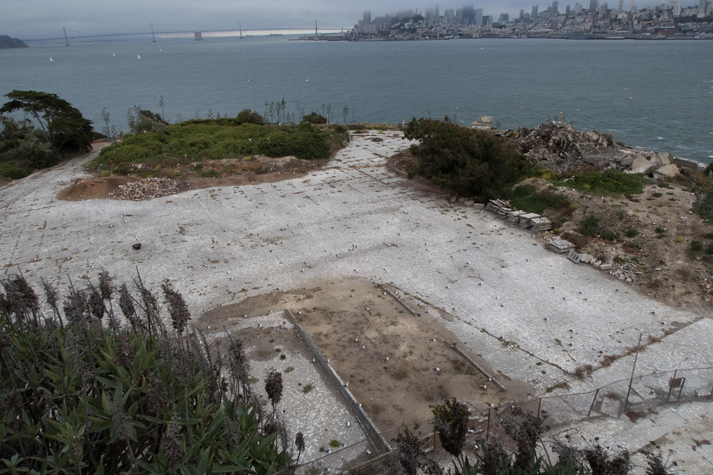 Recreation yard at Alcatraz