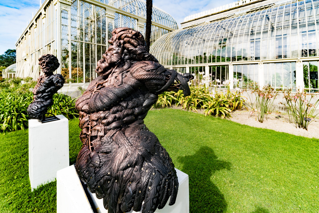 GOD AND ADAM CREATED FROM RECYCLED TYRES [SCULPTURE IN CONTEXT 2017]-132845