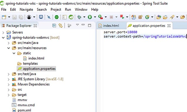 Spring MVC Application - Application Properties