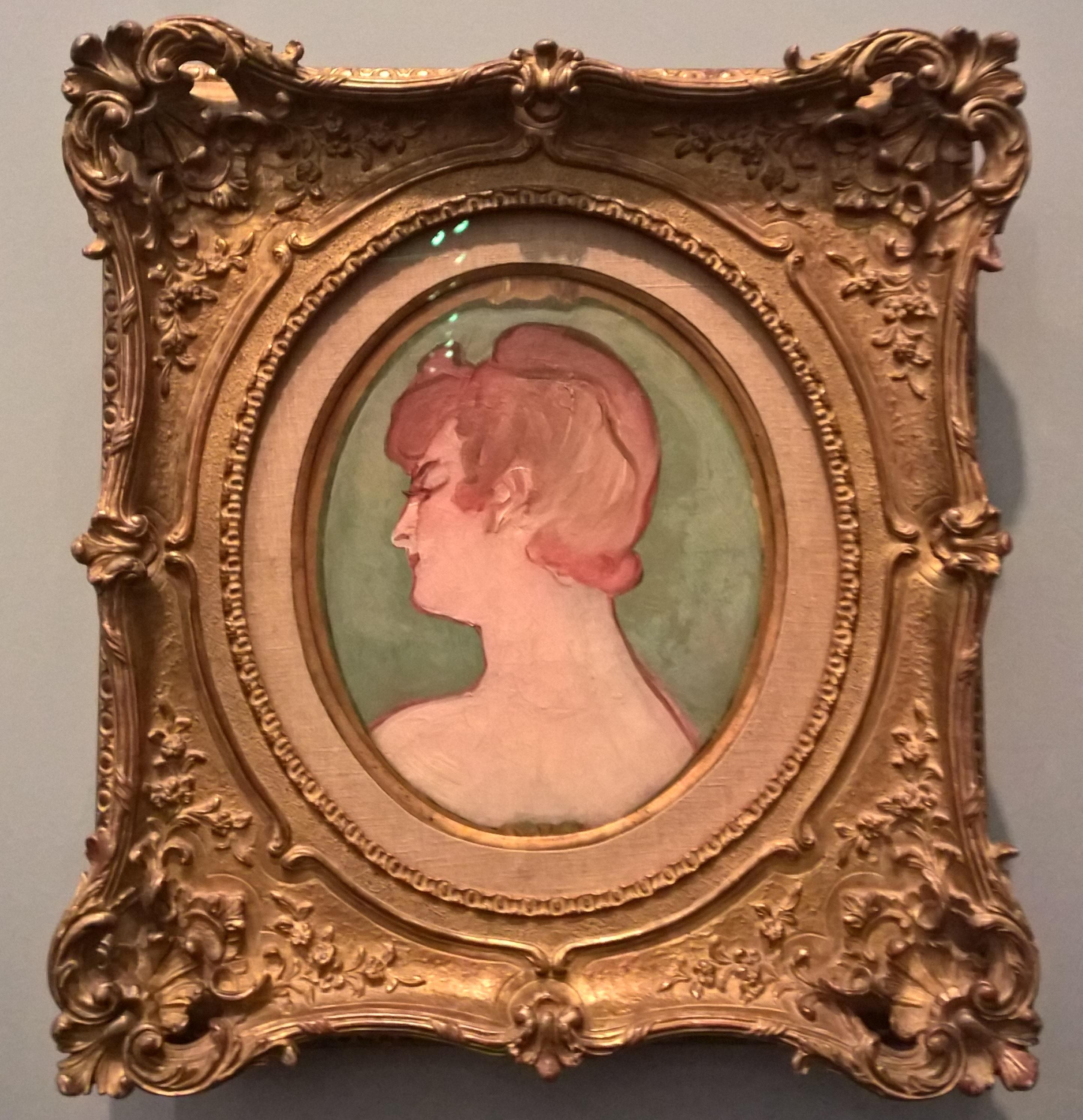 1892_Portrait de femme de la maison de la rue d'Amboise _ Óleo sobre tela