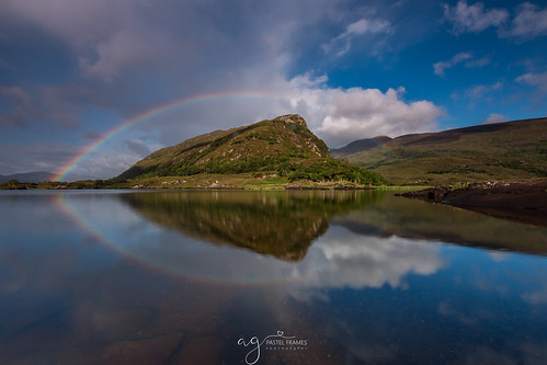 killarney national park eagles nest view stunning moment lovenature loveireland rainbow canon5dmark3 canon1635mm travel travelphotography landscape landscapephotography water reflections clouds sky mountains upper lake