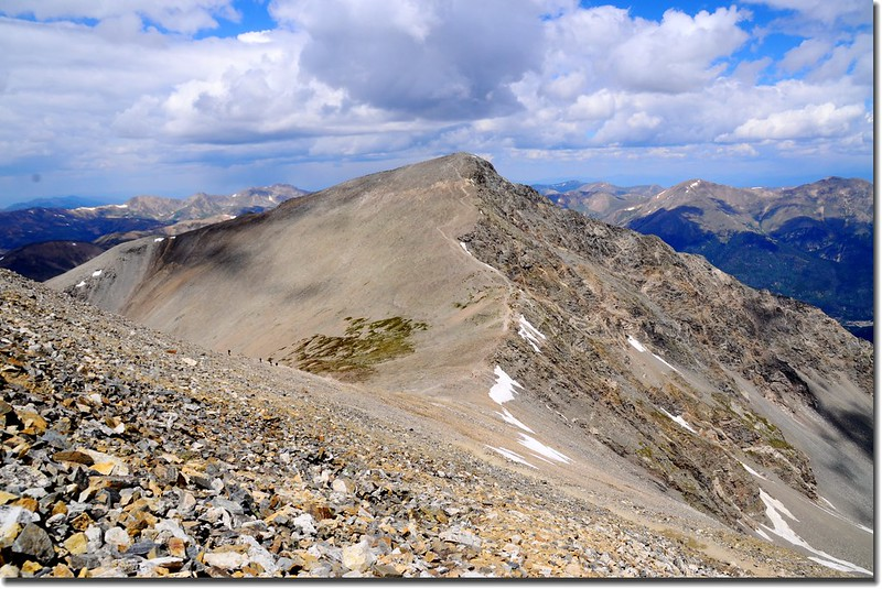 Torreys Peak as seen from Grays Peak summit below 1
