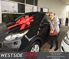 Happy Anniversary to Heather on your #Kia #Sportage from Luis Espinoza at Westside Kia!