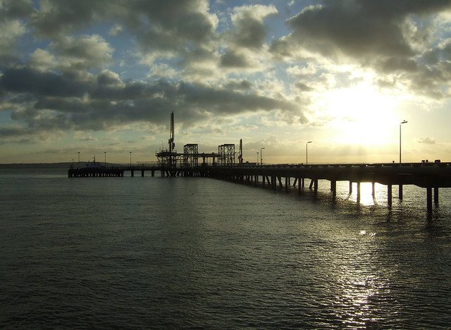 Oil works on Canvey Island