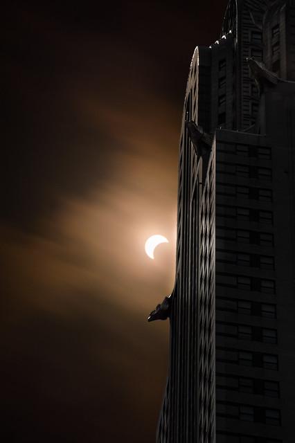 Partial Eclipse over New, Nikon D3200, AF-S DX Zoom-Nikkor 55-200mm f/4-5.6G ED