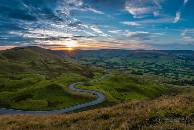 Sunset over Edale Valley, Peak District