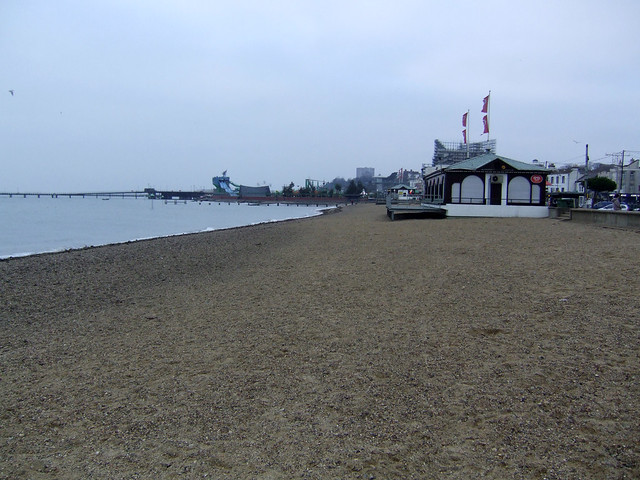 The beach at Southend-on-Sea
