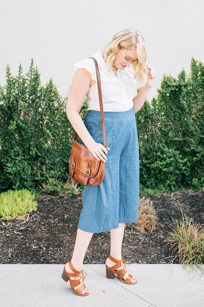 austin fashion blog writes like a girl modcloth chambray culottes4