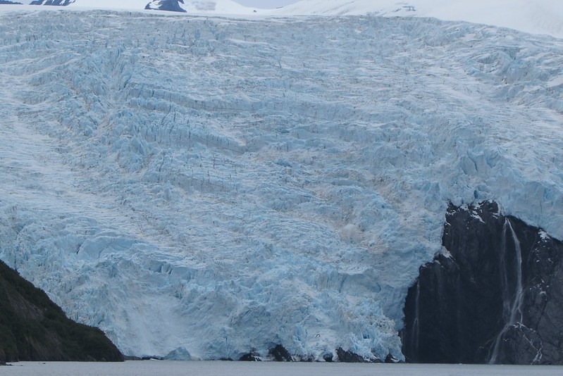 The glacier is really massive