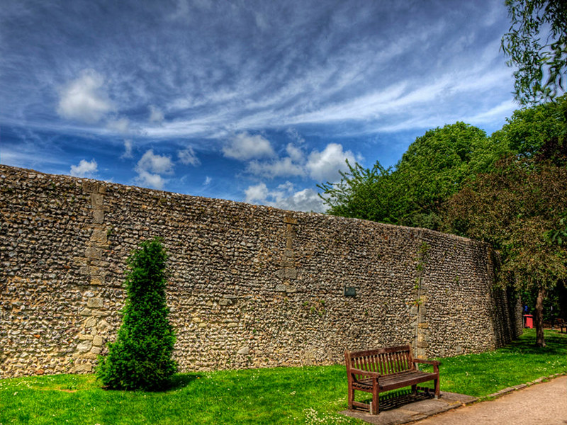 Winchester's Medieval City Wall. Credit Neil Howard, flickr