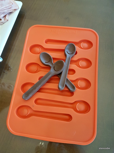 silicone chocolate spoons tray