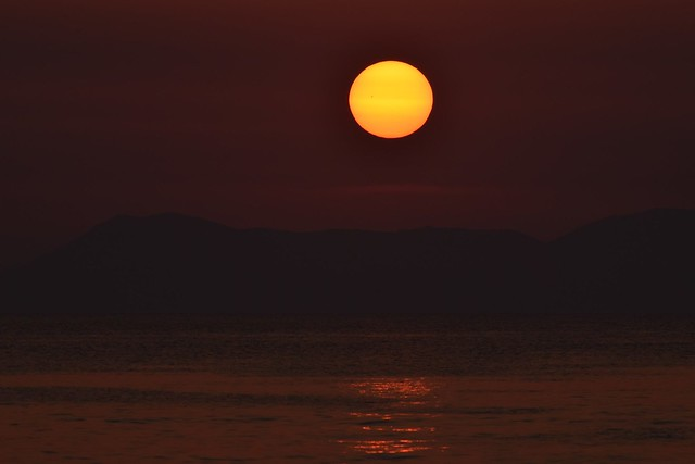 Sunset With A Giant Sunspot