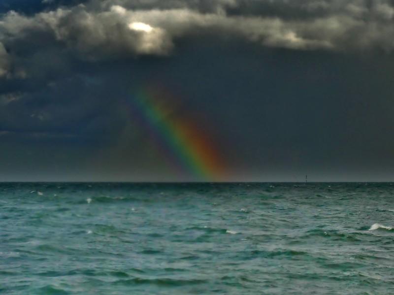 Rainbow on the North-Sea