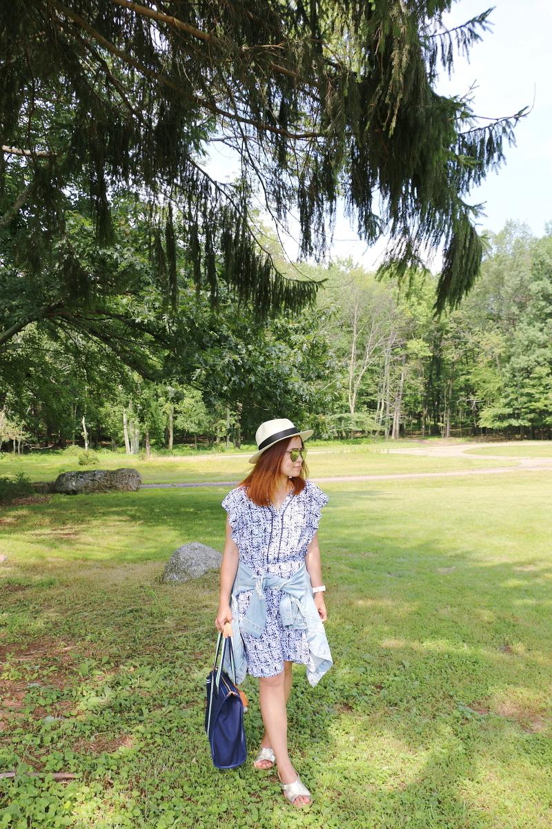 denim-jacket-blue-dress-coverup-straw-hat-5