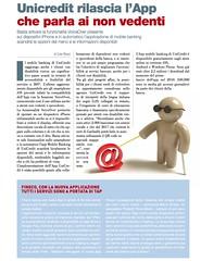 Unicredit rilascia l?App che parla ai non vedenti di Lele Riani
