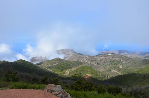 Blick auf die Fortalezza vom Alto de Garajonay aus