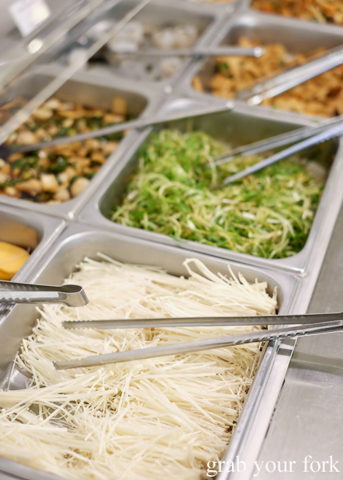 Enoki mushrooms at Yass Korean BBQ Buffet in Strathfield Sydney