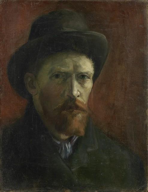 Vincent van Gogh - Self-Portrait with Felt Hat [1886-87]