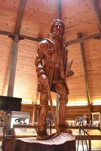 Sequoyah Wooden Indian Statue