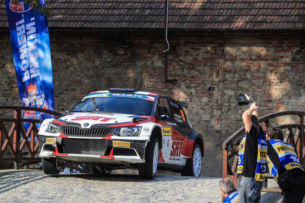 19 GRYAZIN Nikolay (LVA) FEDOROV Yaroslav (RUS) Skoda Fabia R5 action during the 2017 European Rally Championship ERC Barum rally,  from August 25 to 27, at Zlin, Czech Republic - Photo Jorge Cunha / DPPI