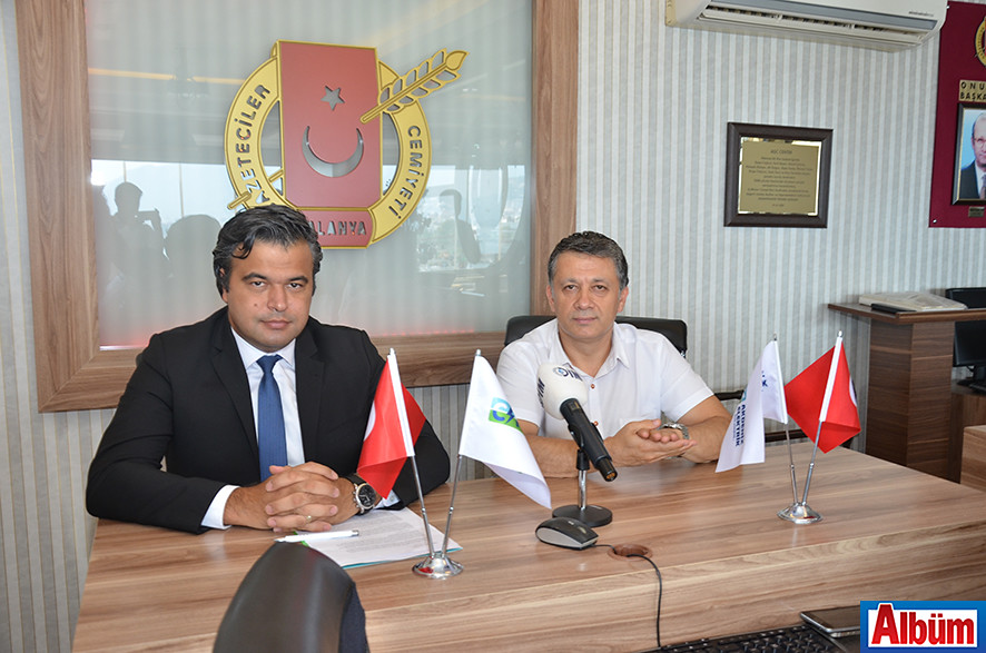 CK Akdeniz Elektrik Genel Müdürü Erol Değerli, TGF Genel Başkan Vekili ve AGC Başkanı Mehmet Ali Dim