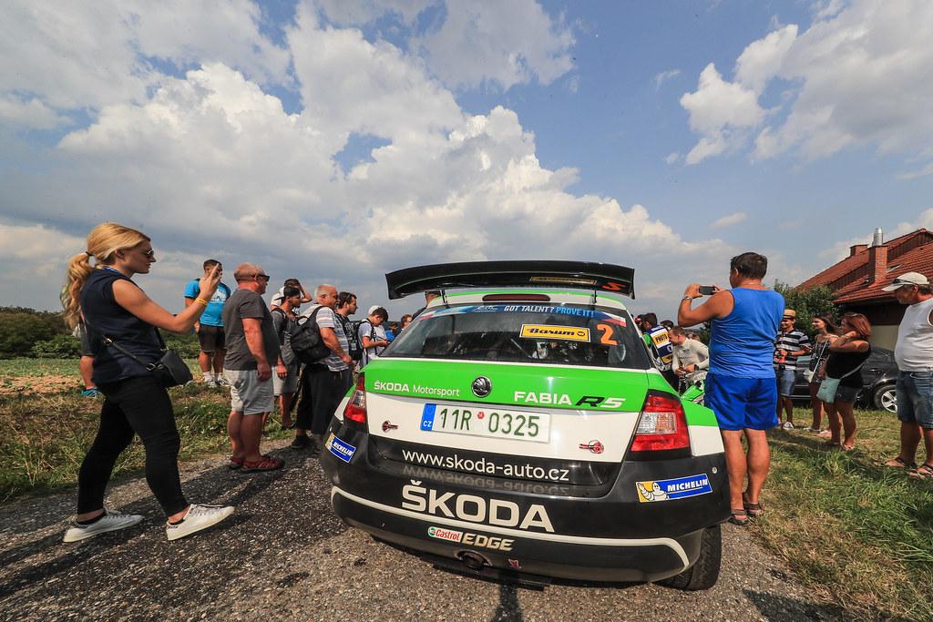 02 KOPECKY Jan (CZE) DRESLER Pavel  (CZE) Skoda Fabia R5 ambiance during the 2017 European Rally Championship ERC Barum rally,  from August 25 to 27, at Zlin, Czech Republic - Photo Jorge Cunha / DPPI