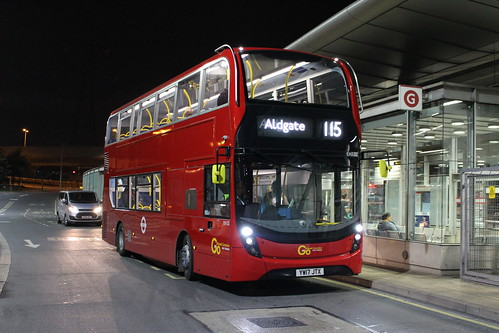 Blue Triangle EH132 on Route 115, Canning Town Station