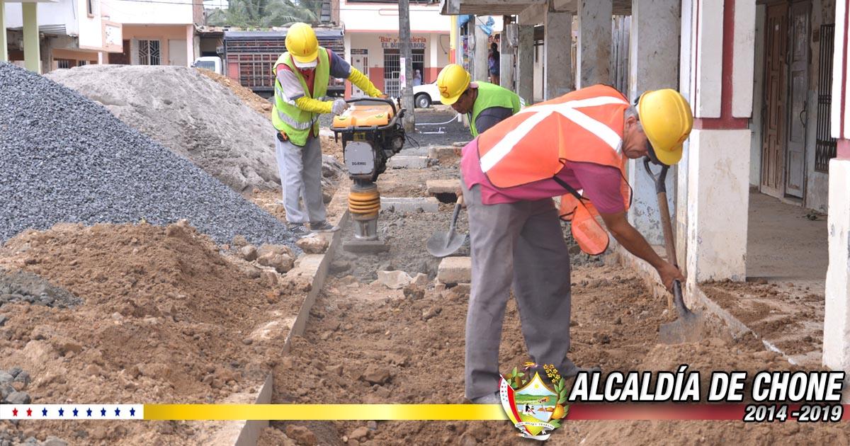 Calle Elías Cedeño Jerves cuenta con el 35% de construcción