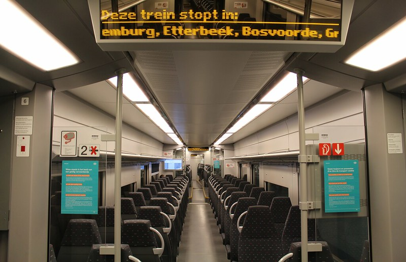 Brussels S-train interior