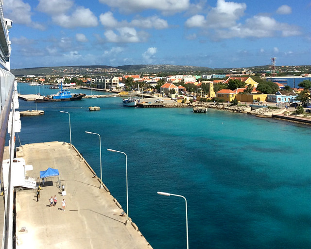 Docking in Bonaire during a Caribbean cruise