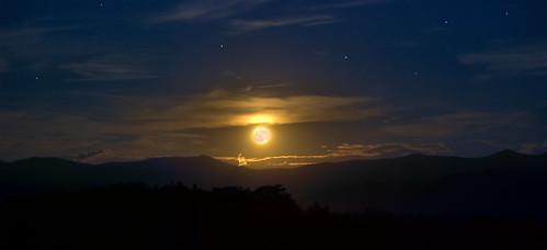 night moon fall autumn stars mountains appalachian