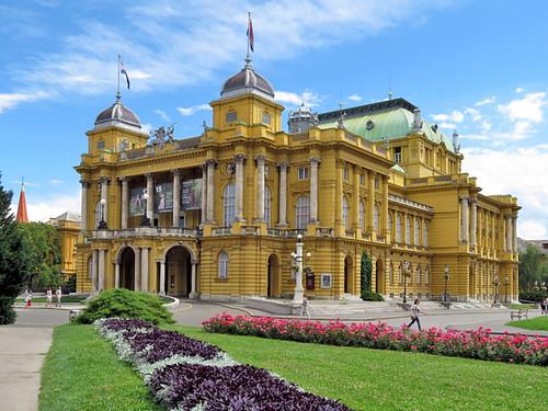 ZAGREB, CROATIA - National Theater/ ЗАГРЕБ, ХОРВАТИЯ - Национальный Театр