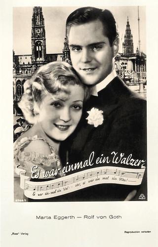 Rolf von Goth and Marta Aggerth in Es war einmal ein Walzer (1932)