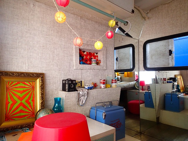 Inside the Campervan of Paradiso Hostel