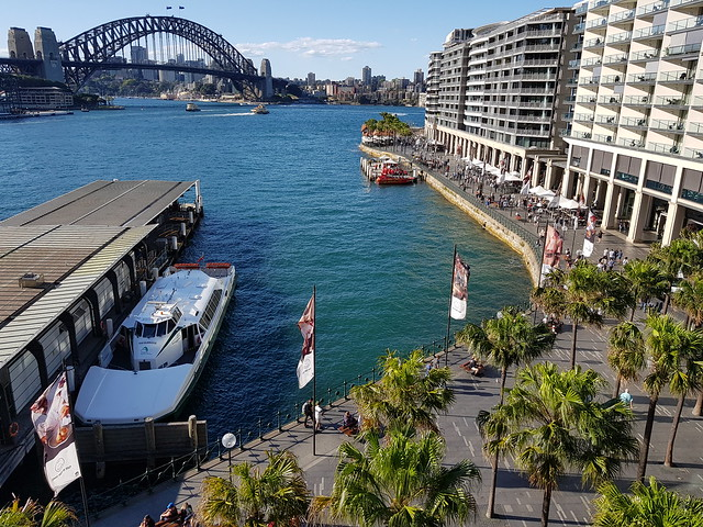 Sydney Harbour Bridge, Ferry Wharf and Circular Quay Sydney - Samsung Galaxy Note 8 photo example