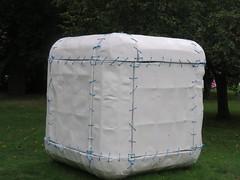 UK - London - Regent's Park - Frieze Sculpture 2017 - Untitled (sewn cube)