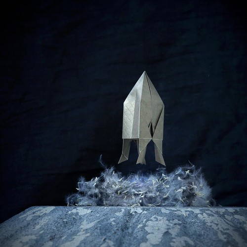 Origami Rocket Illustration