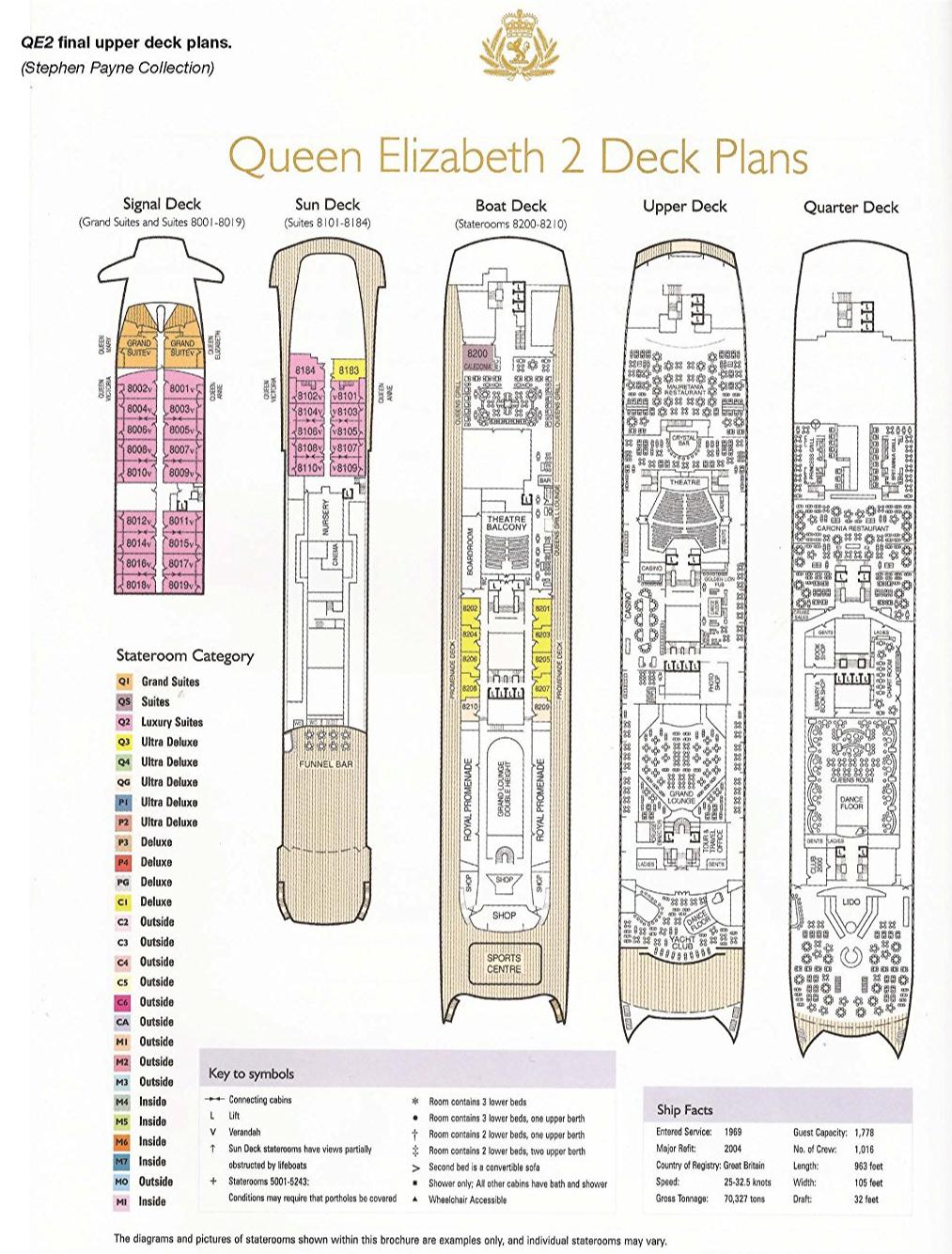 QE2 final deck plans