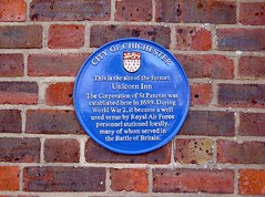 Photo of Corporation of St Pancras and Unicorn Inn, Chichester blue plaque