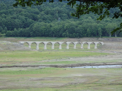 渇水だったのかタウシュベツ橋梁が見えた、ラッキー