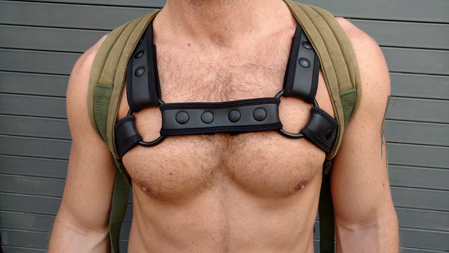 Hella Sexy Muscle Boy's Awesome Chest ! Folsom Street Fair 2017 ! ( safe photo )