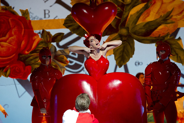 Laura Morera as the Queen of Hearts in Alice's Adventures in Wonderland