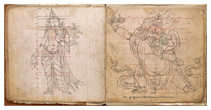 005-Tibetan pattern book of proportions- Getty Digital Collections