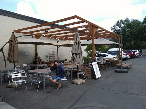 Outdoor patio, Sugar House Coffee, Salt Lake City