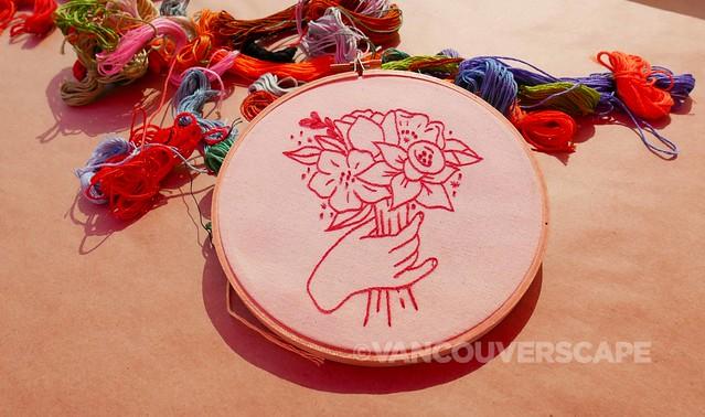 Botanical embroidery workshop 4
