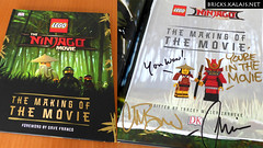 The making of the movie - The LEGO Ninjago Movie with signatures