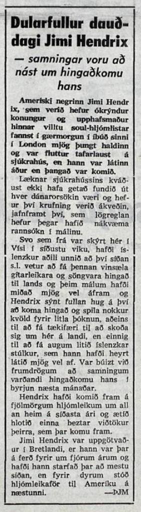 VISIR (ICELAND) SEPTEMBER 19,1970