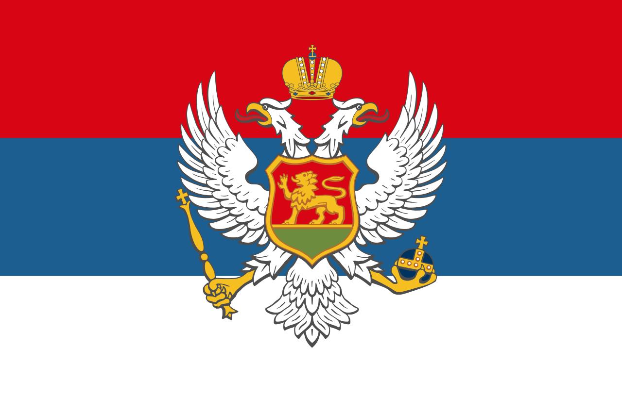 Flag of Montenegro (1910-1918)